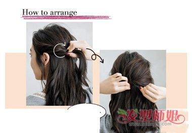 中分如何快速扎头发 中分中长发扎头发造型方法图片