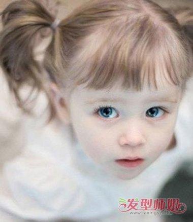 短发小孩梳头发型好看简单 宝宝短发发型图片女孩扎发图片