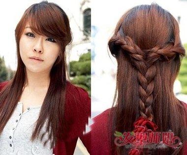 发型diy 编发 >> 编小辫子的发型披肩长度 披肩头发如何做发型(2)图片图片
