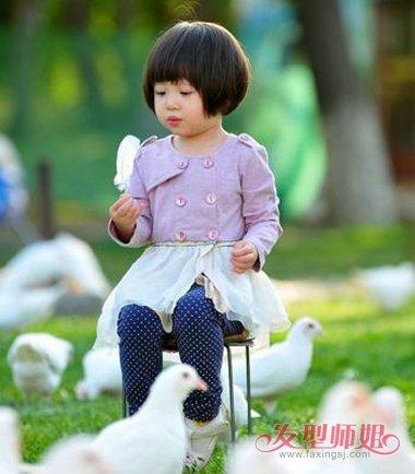 三周岁女孩剪什么短发型 2018儿童女生短发发型图片