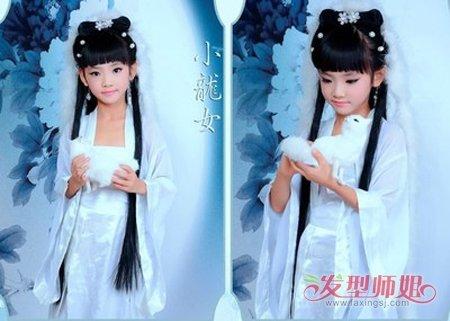 中国儿童简单盘发式 中国古代简单盘发(3)图片