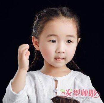 2019年3岁女童短发发型 适合头发短的宝宝扎的发型图片