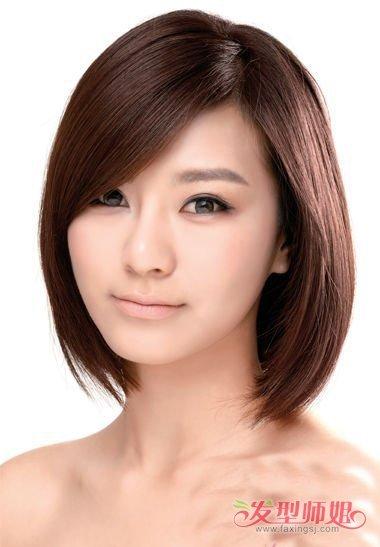 2018韩国流行短发型 中短发的好看发型