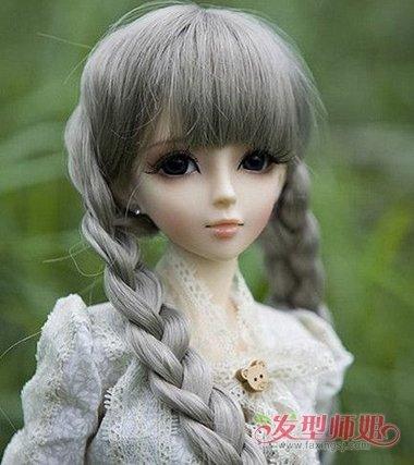如何给洋娃娃编头发 洋娃娃的头发如何做图片