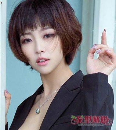发型设计 短发 >> 头发又短又多的女生适合梳什么样的发型 如何处理短