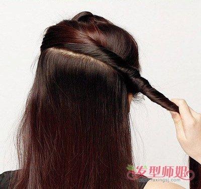 中年妇女用盘发器怎样盘头发 用盘发器盘头发图解图片