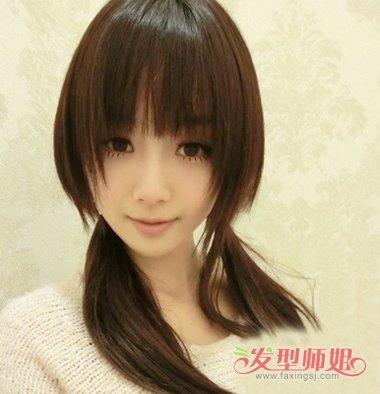 齐刘海扎马尾 最简单中发刘海的扎法(4)图片