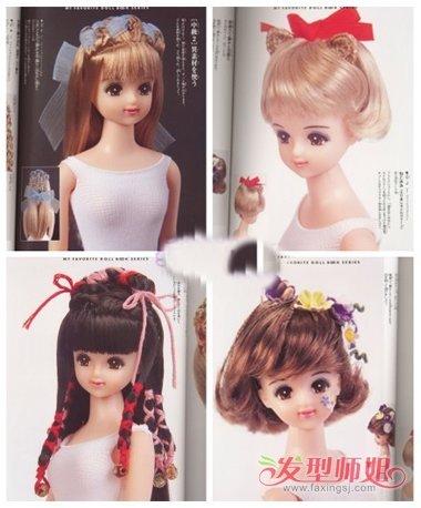 怎么给女娃娃做发型 娃娃头扎头发发型图片
