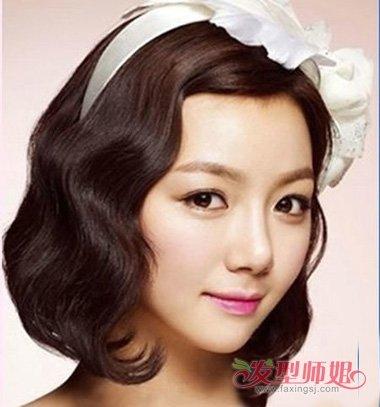 最新韩式新娘短头发的发型的 2018年流行短发发型图片
