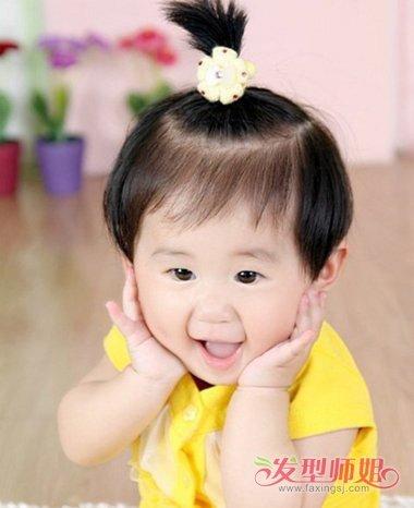 一周女宝宝短发发型图 宝宝短发梳头发型