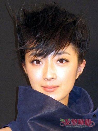 女生阴阳头短发发型 短头发适合什么发型(2)图片