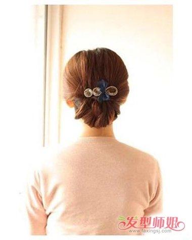 头发少的中年女性适合什么盘头 头发少盘发样式(4)图片