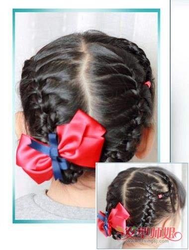小朋友妹妹头绑头发步骤方法图片