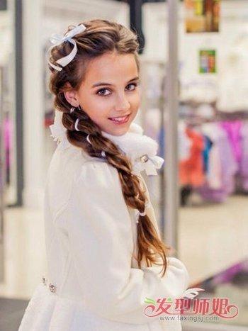 学生梳的简单头发带图片 学生发型大全女长发带步骤