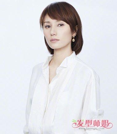 发型设计 短发 >> 喜欢现在自己这张有阅历的脸的袁泉 梳短发的她愈加图片