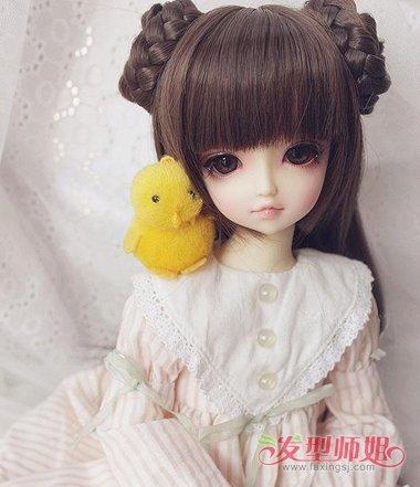 怎么梳简单的娃娃头 给娃娃做头型图片