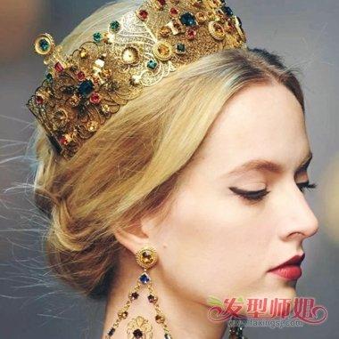 用大皇冠可以扎什么样的头 适合皇冠的盘发图片_发型