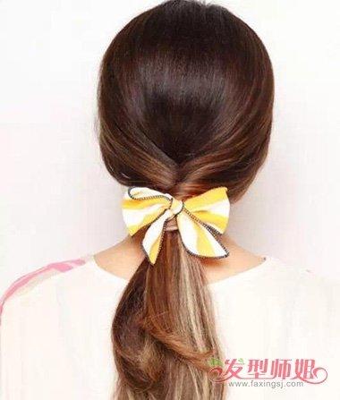 韩式居家简单扎发 简扎居家发型(2)图片