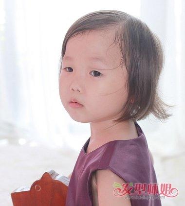 儿童短发发型图片 3岁小女孩短发发型(3)
