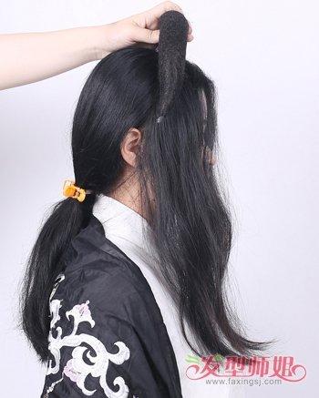 长发古代的发型怎么梳 中长发型详细扎法图片