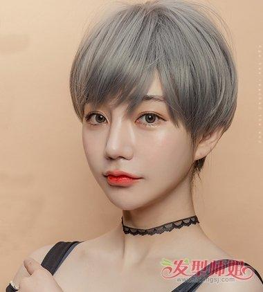 2018流行女生假发短发图片二图片