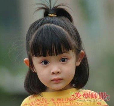 小朋友短头发扎的花样 短发小朋友绑扎头发(2)图片