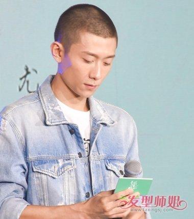 张一山潮流男生短发发型变身青年硬汉(3)图片
