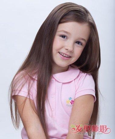 9岁小朋友怎样梳头发好看 小朋友蓬松的头发图片_发型图片