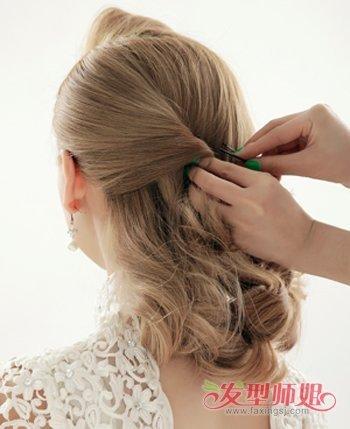 晚会女主持人盘发发型 主持人发型教程