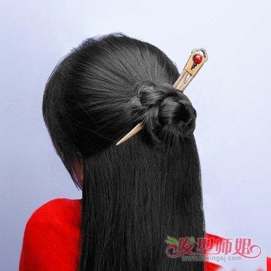 古代人怎么盘发 古代用一根簪子盘发图片