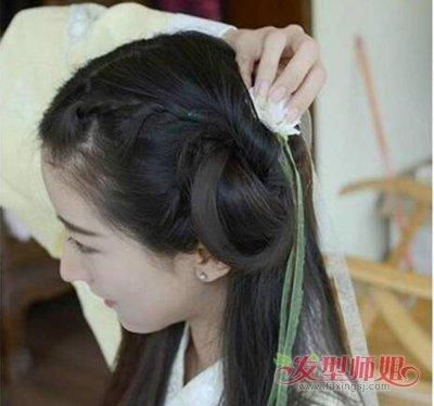 古代短发怎么扎 怎样学会扎古代头发(4)_发型师姐图片