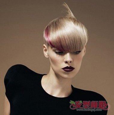 怎样自己做好看的发型  带有 蘑菇头即视感的一款沙宣发型, 短发刘海图片