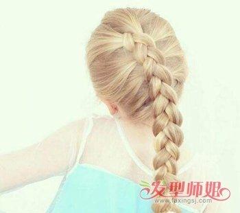 大童女孩扎什么样的发型既好看皮肤又白 大童扎头发教程(4)图片