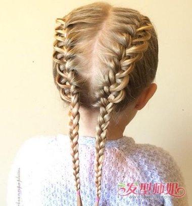 如何给女孩编头发 给小孩编头发的细节(3)图片