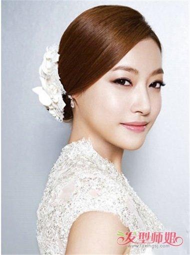高贵韩式盘发技巧中长发型扎发 2018韩国流行发型女中
