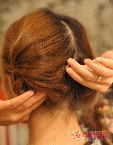 生活辫子盘发发型图片 生活扎发型设计步骤(4)图片