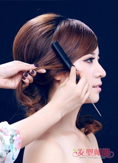 2018韩式新娘发型图片 韩式中长发型扎法步骤图片