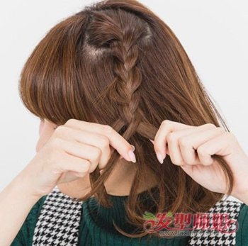 女生如何扎短头发 女生短发发型绑扎方法(2)