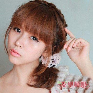 流行发型 日韩发型 >> 最简单的韩版扎发发型 2018韩版女中发发型