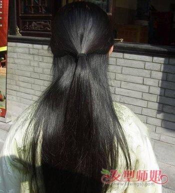 怎样用簪子把头发挽起来啊!简单好看的,最好有图.谢谢图片