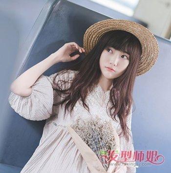 韩版篷松发型图片 学生韩版发型图片