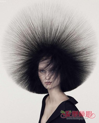 爆炸头发型怎么梳 梳头发型即简单又好看图片