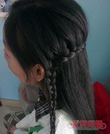 女生侧编蝎子辫公主头发型图片