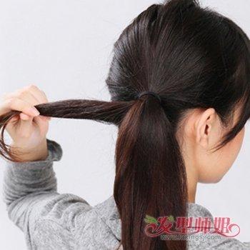 小女生可爱发型图片 小女生扎头发的方法图解图片