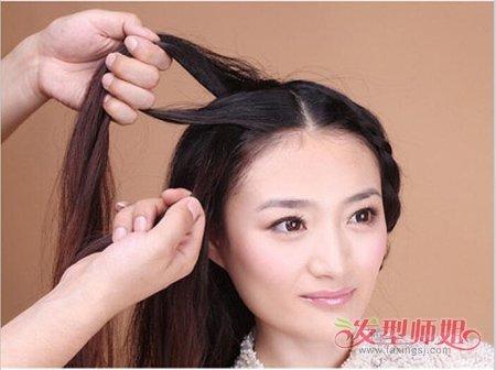 盘发造型,那种发型多会出现的电视剧中,年轻女孩的日常发型还是不要图片