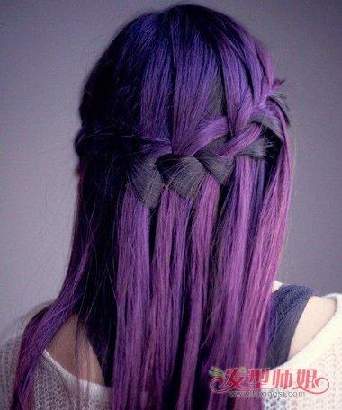 绚丽紫头发图片 紫红色头发大全图片(4)  2018-01-26 08:19来源:发型图片