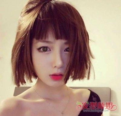 长脸女生适合什么样的短发 长脸女孩短发图片(2)图片