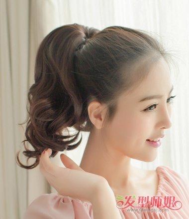 不用皮筋扎头发图解 免皮筋的发型扎发(3)图片