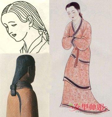 汉朝女人为何散着头发 汉代发型特点设计图片