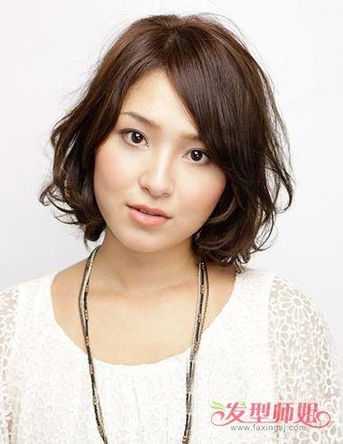 女生层次感的短发 适合圆脸的发型图图片
